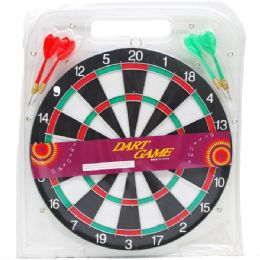24 Bulk Dart Board With Darts In Pegable Blister Pack