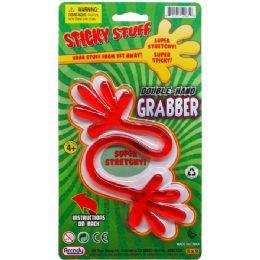 72 Bulk Sticky Double Hand Grabber On Blister Card