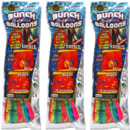 144 Bulk Water Balloon W/ Filler In Pegable Pouch Bag