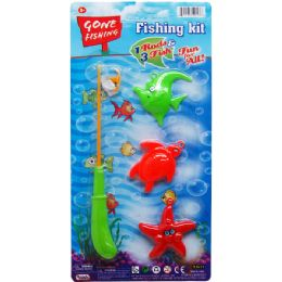 48 Bulk Gone Fishing Play Set With Rod On Card