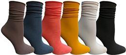 6 Bulk Yacht & Smith 6 Pack Women's Ruffle Slouch Socks Size 9-11