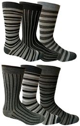 Bulk 6 Pairs Of Yacht&smith Dress Socks, Colorful Patterned Assorted Styles (pack a)