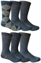 Bulk 6 Pairs Of Yacht&smith Dress Socks, Colorful Patterned Assorted Styles (pack e)