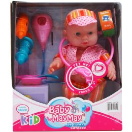 12 Bulk Baby Doll With Sound And Accessories In Window Box