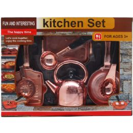 12 Bulk 8 Piece Pretend Kitchen Play Set In Open Box With Cover