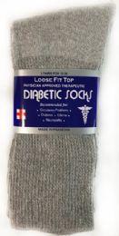 36 Bulk Women's Grey Long Diabetic Sock