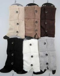 12 Bulk Buttons Design Leg Warmer Boot Toppers Assorted