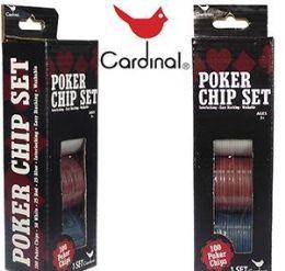 60 Bulk Cardinal Hundred Piece Poker Chip Sets