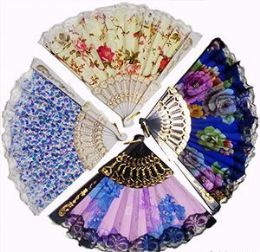 120 Bulk Flowers And Lace Folding Hand Fans