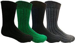 4 Bulk Yacht&smith Merino Wool Socks For Boys, 4 Pairs Ultra Soft, Comfortable Hiking Sock Youth 9-11 (4 Pairs Assorted)