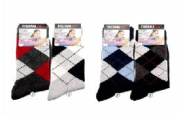 36 Bulk Womens Warm Winter Wool Thermal Socks, Size 9-11