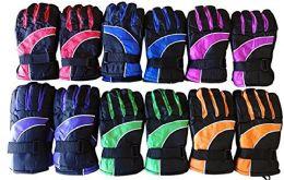 12 Bulk Yacht & Smith Kids Thermal Sport Winter Warm Ski Gloves