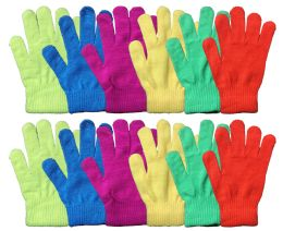 12 Bulk Yacht & Smith Mens Women's, Warm And Stretchy Winter Gloves Assorted