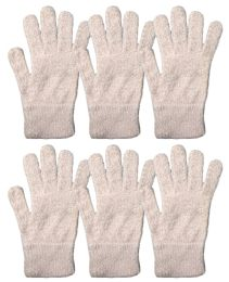 6 Bulk Yacht & Smith Mens Womens, Warm And Stretchy Winter Gloves (6 Pack Light Pink Fuzzy)