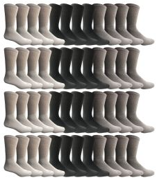 36 Bulk Yacht & Smith Men's Sports Crew Socks, Assorted Colors Size 10-13 Bulk Pack