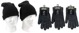 120 Bulk Adult Merino Wool Hat And Glove Combo
