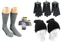 180 Bulk Adult Merino Wool Combo - Hats, Gloves, And Socks