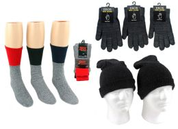 180 Bulk Adult Merino Wool Combo - Hats, Gloves, And Socks Includes