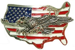 24 Bulk Eagle Mens Belt Buckle