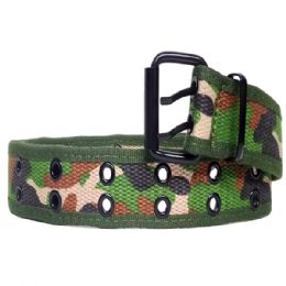 36 Bulk Mens Camo Belt In Green