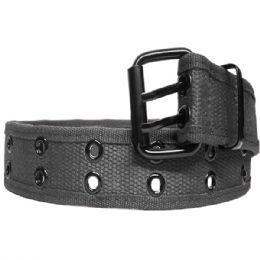 36 Bulk Mens Two Hole Belt Fabric In Grey