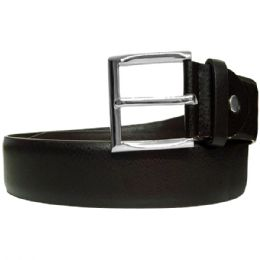 36 Bulk Men's Genuine Leather Belt In Black
