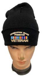 36 Bulk Operation Iraqi Freedom Veteran Black Winter Beanie