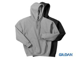 24 Bulk Gildan Mens Assorted Colors Irregular Fleece Hoodie Size -L