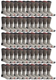 60 Bulk Yacht & Smith Mens Thermal Socks, Warm Cotton, Sock Size 10-13