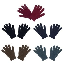 48 Bulk Unisex Winter Gloves In 5 Assorted Colors