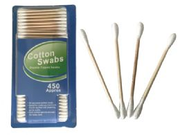 72 Bulk 450pc Wooden Cotton Swabs