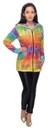5 Bulk Nepal Handmade Cotton Jackets With Hood Rainbow Colors