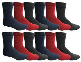 36 Bulk Yacht & Smith Womens Wholesale Winter Thermal Crew Socks Size 9-11
