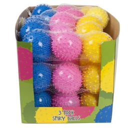 15 Bulk 3 Pack Spiky Bouncing Ball
