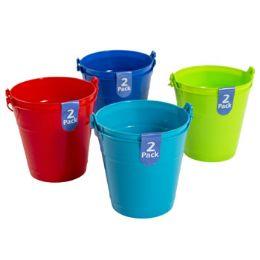 48 Bulk 2 Pack Plastic Bucket