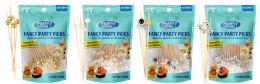 48 Bulk Fancy Party Picks 50 Count Mixed Pearl Color Tops
