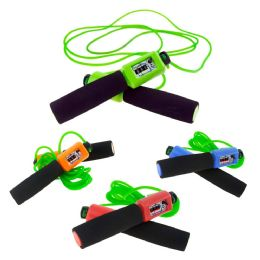 48 Bulk Wholesale Kids 10 Ft Jump Rope With Foam Handle And Counter In 4 Assorted Colors