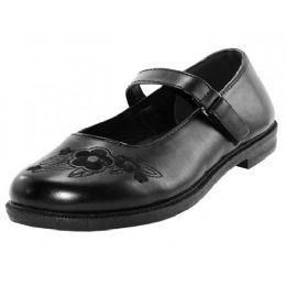 24 Bulk Youth's Black Mary Jane School Shoes