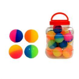 24 Bulk HI-Bouncing Two Tone Balls