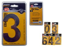 """240 Bulk House Numbers 0-9 4.5"""" H Silver"""