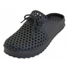 36 Bulk Men Slip On Open Back Soft Sandals ( Black Color )
