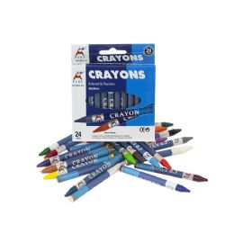 144 Bulk Wholesale Kids Crayons In 24 Assorted Colors