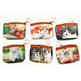 48 Bulk Kittens Printed Coin Purse