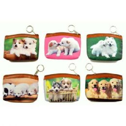 48 Bulk Dogs Printed Coin Purse