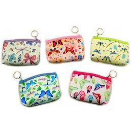 48 Bulk Coin Purse Butterfly Designs