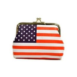 48 Bulk Usa Flag Clasp Coin Purse
