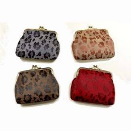 48 Bulk Animal Skin Print Clasp Coin Purse