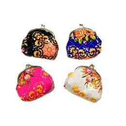 48 Bulk Flowers Snap On Coin Purse