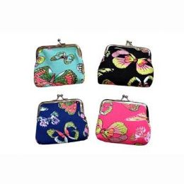 48 Bulk Snap On Butterfly Coin Purse