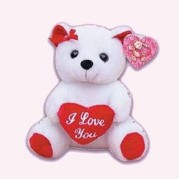 24 Bulk 9 Inch Valentine White Bear